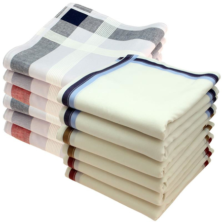 Handkerchiefs 12 pieces ca.40x40cm pure cotton Steward + Charles