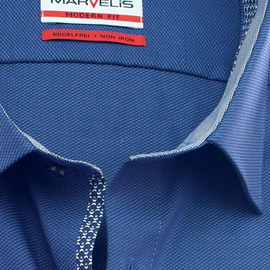 MARVELIS a Jacquard camisa para hombres MODERN FIT mangas...