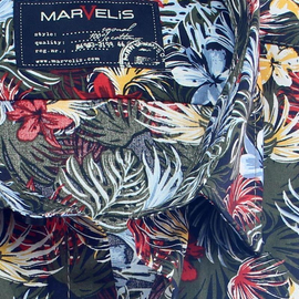 MARVELIS Hemd CASUAL tropical print halbarm