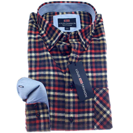 LOUIS FASHION Hemd COMFORT FIT flanell langarm
