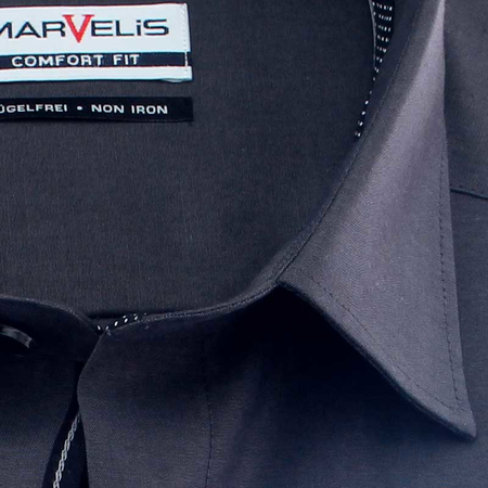 MARVELIS Chambray COMFORT FIT camisa para hombres mangas largas