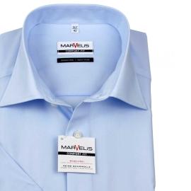 Halbarm Hemd für die heissen Tage in Bleu