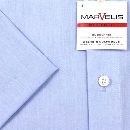 Marvelis Hemd Modern Fit Chambray Kurzarm (4704-12-11e)